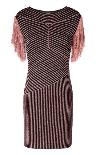 "JUST CAVALLI Short dress Woman Dress with ""Sprayed Cow"" print f"