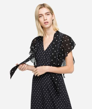 KARL LAGERFELD K/DOTS MAXI DRESS