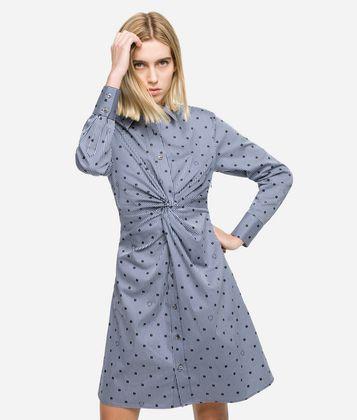 KARL LAGERFELD K/DOTS SHIRT DRESS