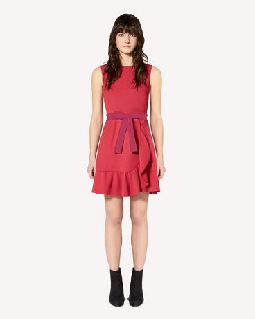 REDValentino Limited Edition   Ruffle detail cady tech dress