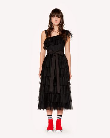REDValentino Tulle point d'esprit flounce dress