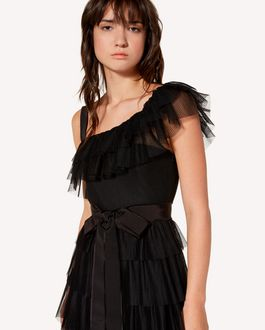 REDValentino Flounced point d'Esprit tulle dress