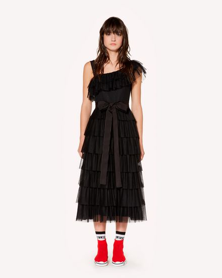 Tulle point d'esprit flounce dress