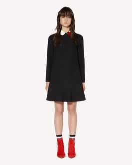 REDValentino Crepe envers satin dress with heart patch detail
