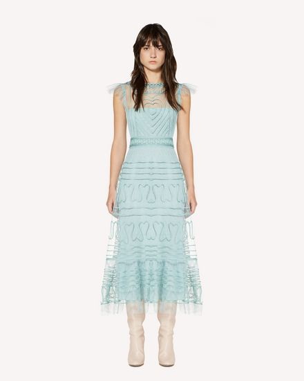 REDValentino Long and midi dresses Woman SR3VA02U4CR GE5 f