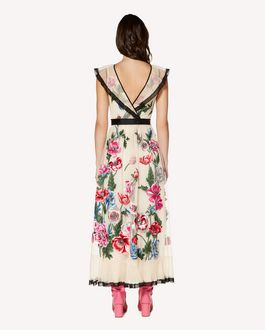 REDValentino Tulle dress with poppy embroidery