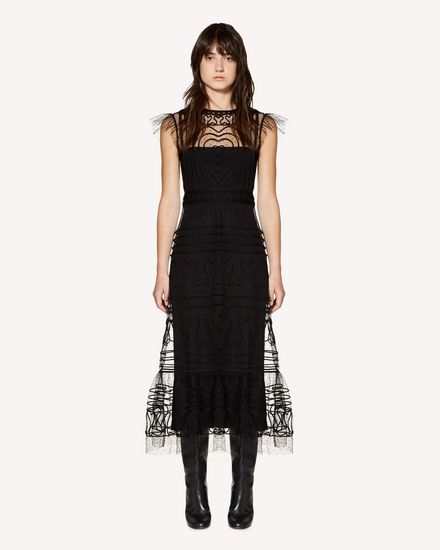 REDValentino Long and midi dresses Woman SR3VA02U4CR 0NO f
