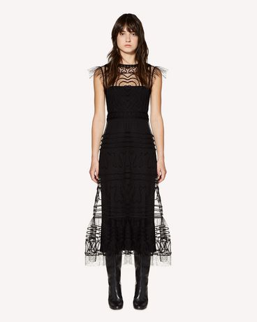 REDValentino SR3VA02U4CR 0NO Long dress Woman f