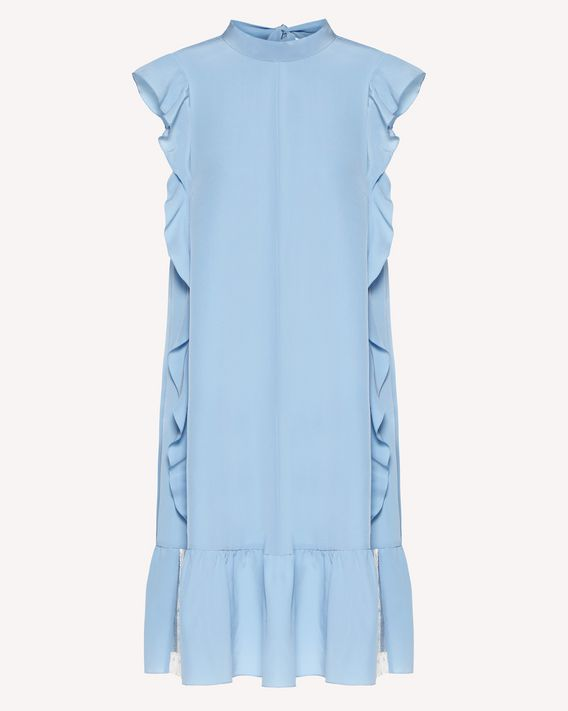 REDValentino Limited Edition   Ruffle detail silk dress