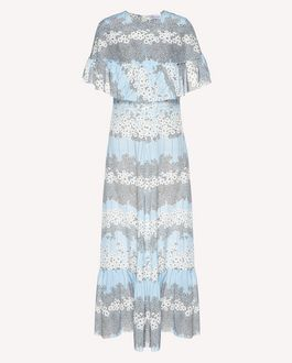 REDValentino Ruffle detail Dreaming Peony printed silk dress