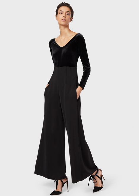 Jumpsuit with the top part in velvet