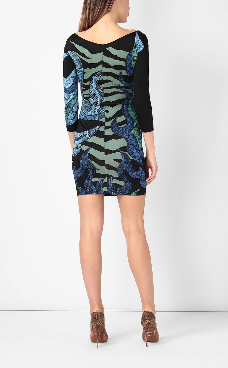 "JUST CAVALLI Dress with ""Bull flame"" print Dress Woman a"