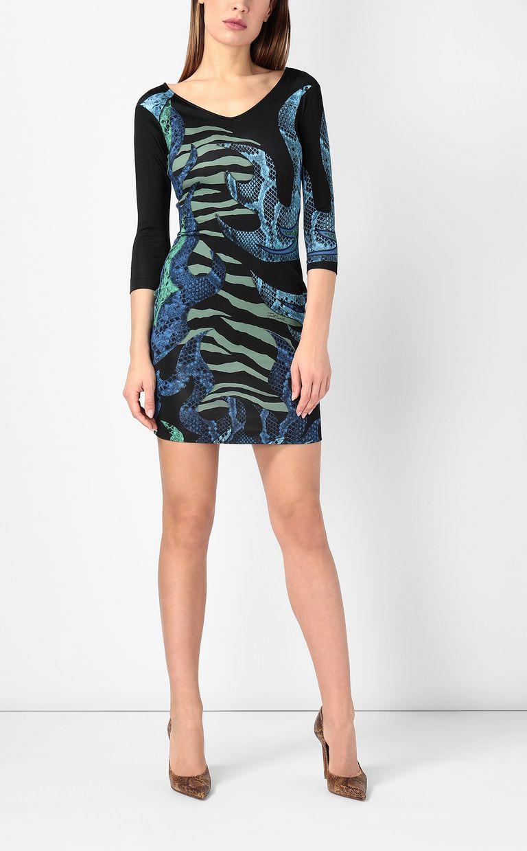 "JUST CAVALLI Dress with ""Bull flame"" print Dress Woman d"