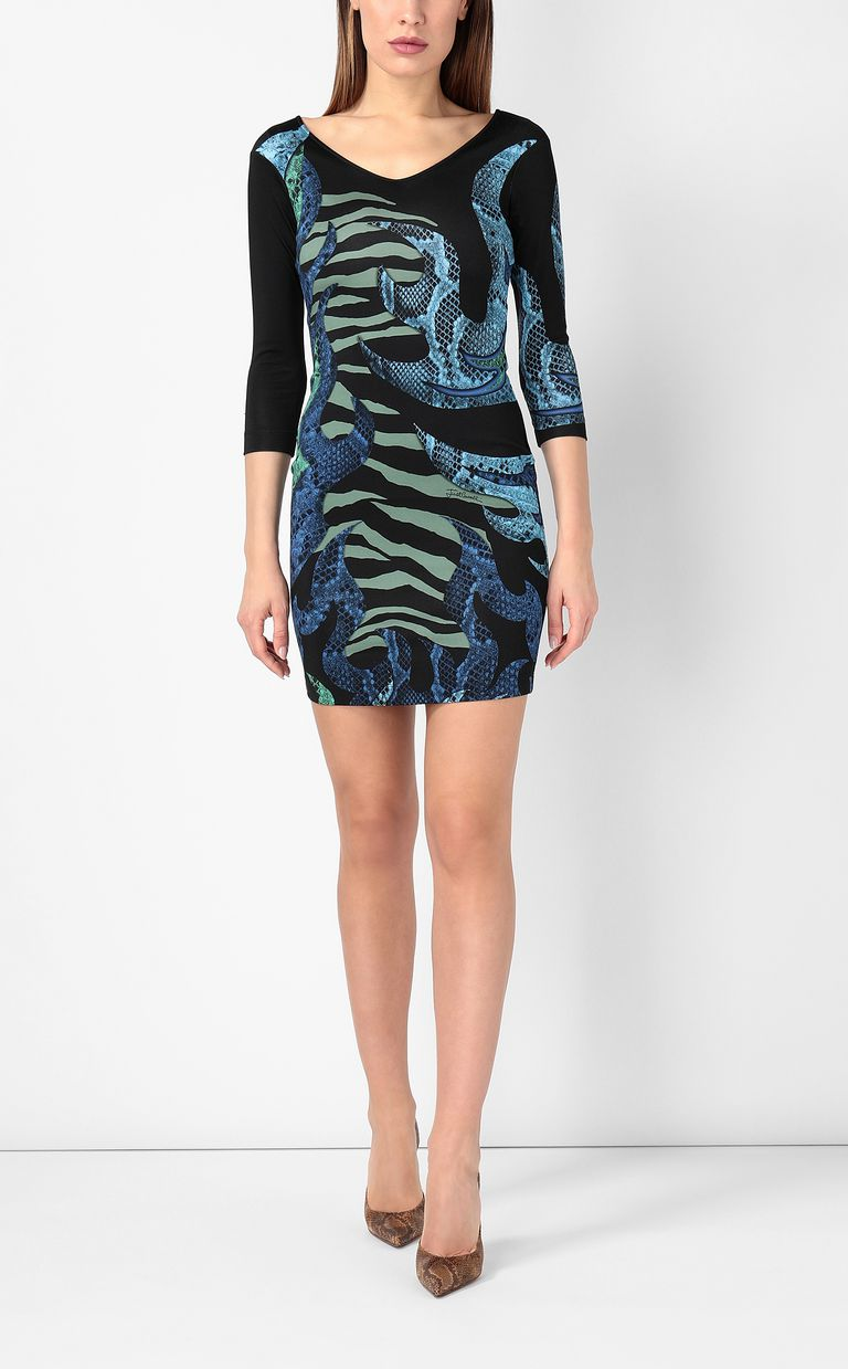 "JUST CAVALLI Dress with ""Bull flame"" print Dress Woman r"