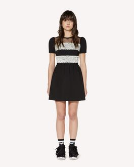 REDValentino Jersey dress with lace ribbons