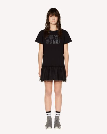 "REDValentino ""Forget Me Not"" glitter print T-shirt dress"