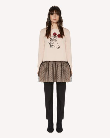 REDValentino Heart's tale printed  sweatshirt dress
