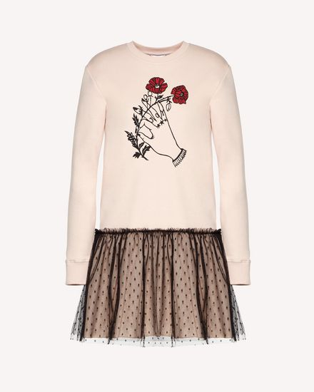 Heart's tale printed  sweatshirt dress