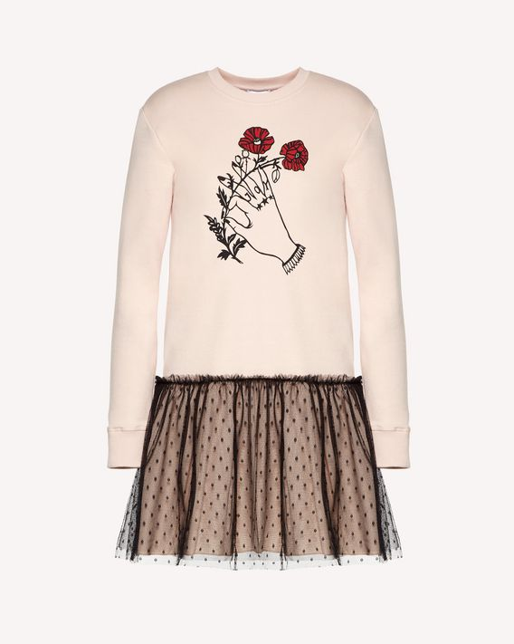 REDValentino Heart's Tale print sweatshirt dress