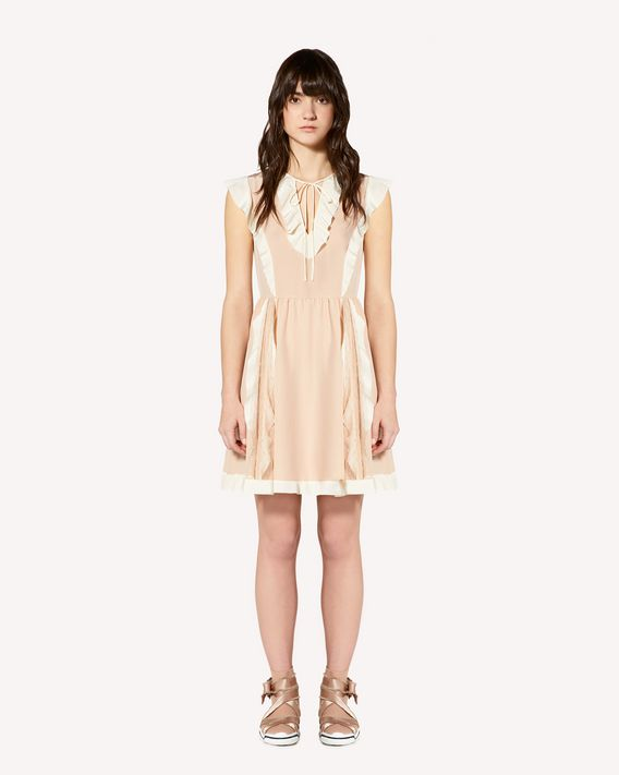 REDValentino Limited Edition   Ruffles detail silk dress