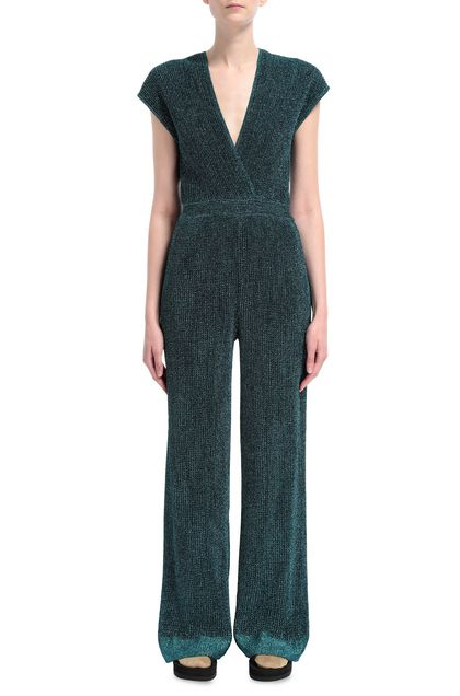 M MISSONI Jumpsuit Deep jade Woman - Back