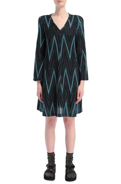 M MISSONI Dress Sky blue Woman - Back