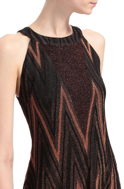 M MISSONI Long dress Rust Woman - Front