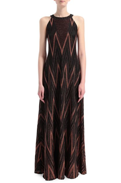 M MISSONI Long dress Rust Woman - Back