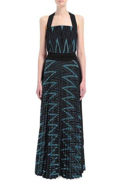 M MISSONI Long dress Sky blue Woman - Back