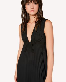REDValentino Pleated georgette dress