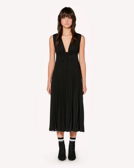 REDValentino Georgette pleated dress