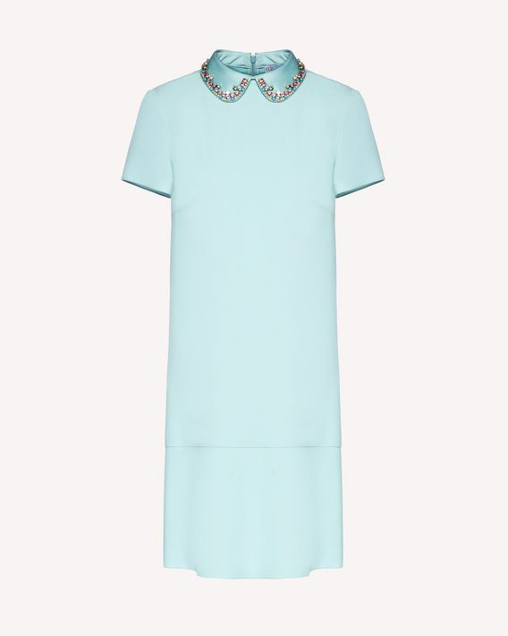 REDValentino Envers satin-crepe dress with rhinestone embroidery