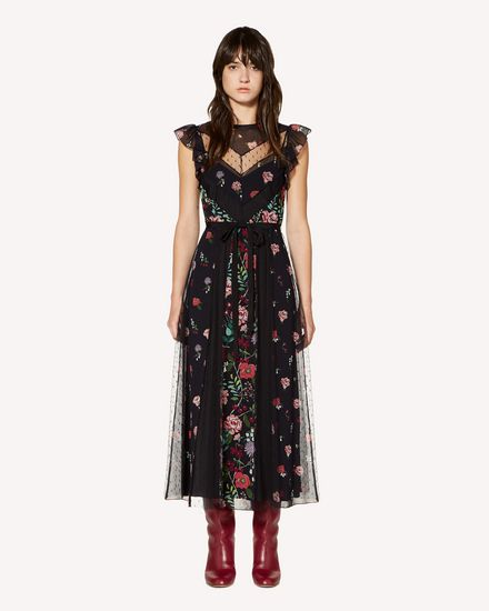 REDValentino Printed dress Woman SR3VAG454AQ 0NO f