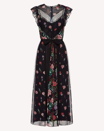 REDValentino SR3VAG454AQ 0NO Printed dress Woman a