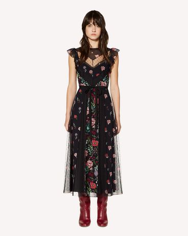 REDValentino SR3VAG454AQ 0NO Printed dress Woman f