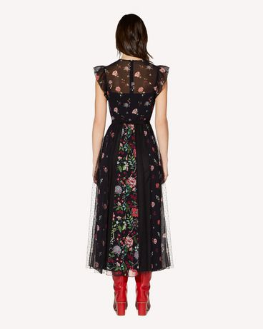 REDValentino SR3VAG454AQ 0NO Printed dress Woman r