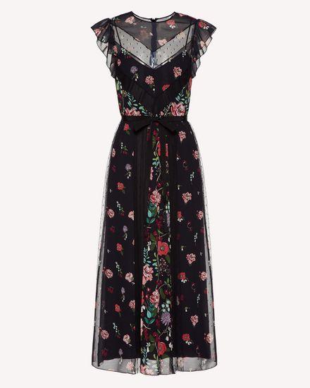 嵌花 Cherry Blossom 印纹平纹细布连衣裙