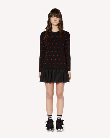 REDValentino SR3KDA574F5 0NO Knit Dress Woman f