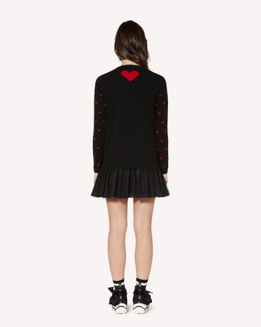 REDValentino SR3KDA574F5 0NO Knit Dress Woman r