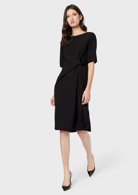 Cady dress with draping on the side