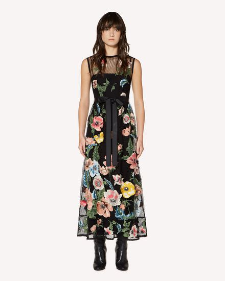 REDValentino Long and midi dresses Woman SR3VA02Y4D3 N78 f