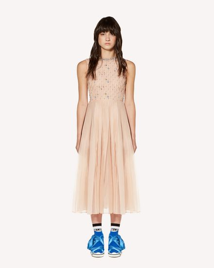REDValentino Long and midi dresses Woman SR3VA03F4CA N17 f