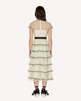 REDValentino Sequins embroidered point d'Esprit tulle dress
