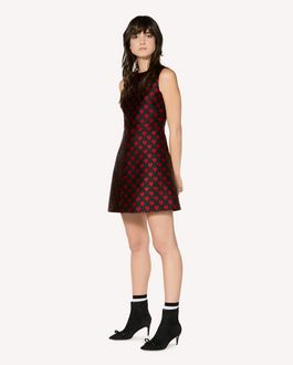REDValentino Heart Brocade Dress