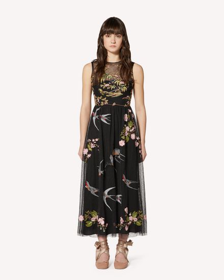 REDValentino Long and midi dresses Woman SR0VA05D4KP N78 f
