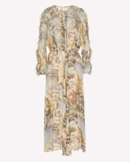 REDValentino Paysage Chinois printed taffeta trench coat