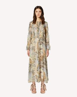 REDValentino Paysage Chinois printed silk muslin dress