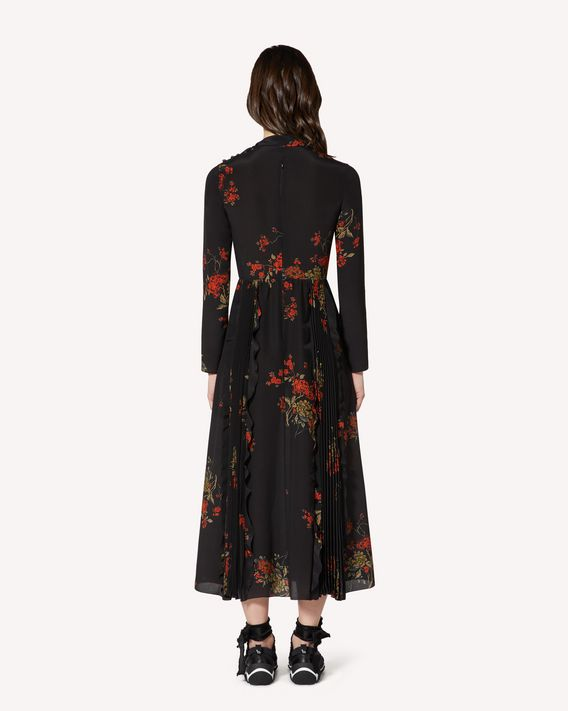 REDValentino Oriental Flowers crepe de chine dress