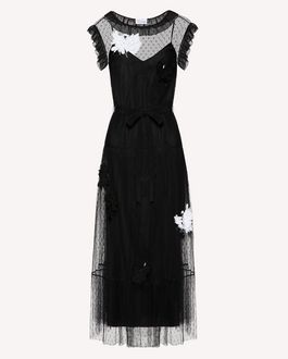 REDValentino Long dress Woman SR3VA03H4CE 0NO a