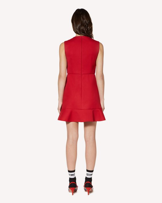 REDValentino Technical tricotine dress with heart detail